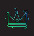 crown icon design vector image
