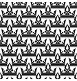 crowns seamless pattern in black and white vector image vector image