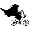 death on a bicycle vector image vector image