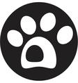 dog paw icon vector image vector image