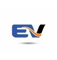 EV company linked letter logo vector image vector image