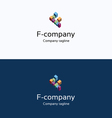 F letter buildings 3d logo vector image vector image