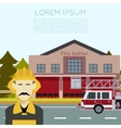 Fire Station Banner3 vector image vector image