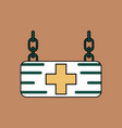 flat icon design collection medical sign vector image vector image