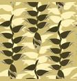 floral leaves pattern leaf seamless background vector image vector image