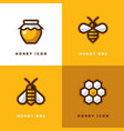 four honey logo vector image vector image