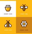 four honey logo vector image vector image