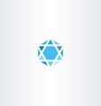 geometric diamond hexagon blue icon star vector image vector image