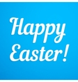 Happy Easter paper sign vector image vector image