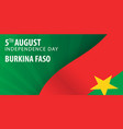 independence day of burkina faso flag and vector image