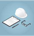 isometric concept home inspection vector image