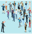 isometric fpeople with loudspeaker vector image vector image