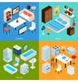 Isometric Interior Set vector image vector image