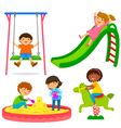 kids in the playground vector image vector image