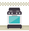 kitchen oven appliance icon vector image vector image