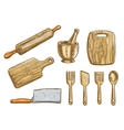 kitchen tools Kitchenware appliances vector image vector image