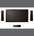 Lcd television with speakers vector | Price: 1 Credit (USD $1)