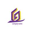 letter g logo a building design color vector image vector image
