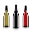mockup wine bottle design vector image vector image