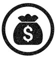 money bag rounded icon rubber stamp vector image vector image