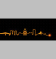 montreal light streak skyline vector image