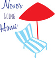 Never Going Home vector image vector image