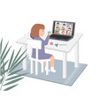 online education concept for preschool and vector image