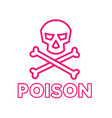 poison symbol icon vector image vector image