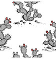 prickly pear seamless pattern pear cactus vector image vector image