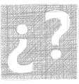 Question Mark - Freehand Symbol vector image vector image