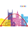 Reading skyline pop vector image vector image