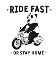 ride fast or stay home vector image vector image