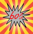 Sale 60 text vector image