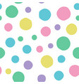 seamless handmade background many circles vector image vector image
