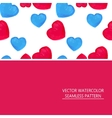 seamless pattern of red and blue hearts vector image