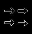 set line icons arrow vector image vector image
