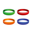 set of multicolored plastics wristband vector image vector image