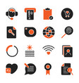 set with different icons for apps programs sites vector image vector image