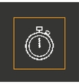Simple stylish pixel icon stopwatch design vector image vector image