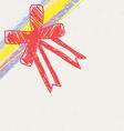 sketch drawing ribbon decoration vector image