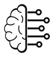 smart brain analysis icon simple style vector image vector image
