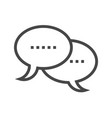 Speech bubble thin line icon vector image