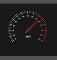 speed counter or speedometer dashboard car vector image