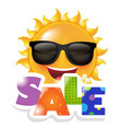 sun smile sale vector image vector image