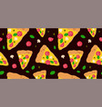 tasty pizza modern beauty seamless vector image vector image