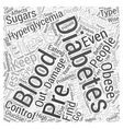 The Effects of Prolonged Hyperglycemia Word Cloud vector image vector image