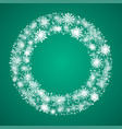the festive wreath snowflakes new year christmas vector image vector image
