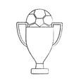 trophy soccer ball winner sport vector image