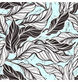 tropical seamless pattern cocoa nature leaves vector image