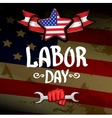Usa labor day background vector image